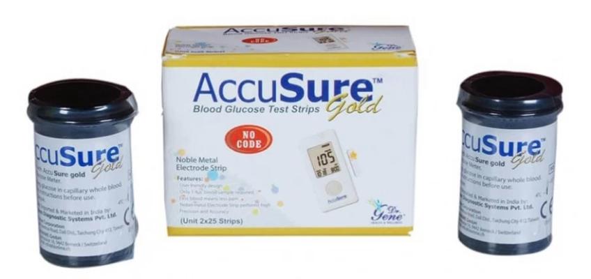AccuSure Blood Glucose Test Strips